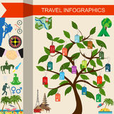 Travel. Vacations. Beach resort infographics. Elements for creat Stock Photos