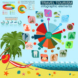 Travel. Vacations. Beach resort infographics. Elements for creat Royalty Free Stock Photography