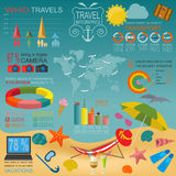 Travel. Vacations. Beach resort infographics Stock Photos