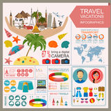 Travel. Vacations. Beach resort infographics Stock Photography