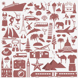 Travel. Vacations. Beach resort set icons. Elements for creating Stock Images