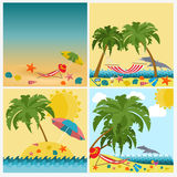Travel. Vacations. Beach resort set icons. Elements for creating Stock Image