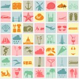 Travel. Vacations. Beach resort set icons. Elements for creating Stock Photos
