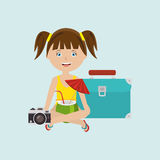 Travel vacations design Royalty Free Stock Photos