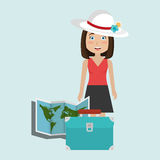 Travel vacations design Royalty Free Stock Image