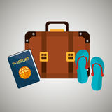 Travel vacations design Stock Image