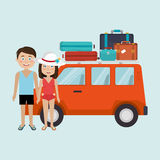 Travel vacations design Stock Photography