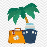 Travel vacations design Royalty Free Stock Images