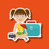 Travel vacations design Royalty Free Stock Photography