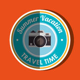 Travel vacations  design Stock Images