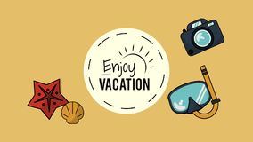 Travel and vacations HD animation