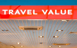 Travel value shop Royalty Free Stock Photos