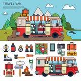 Travel van near the sea Royalty Free Stock Photo
