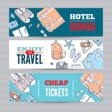 Travel vector banners set Stock Photography