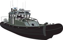 Travel_vector de puissance navale de bateau Image stock