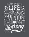 Travel. Vector hand drawn illustration for t-shirt print or poster with hand-lettering quote. Royalty Free Stock Photography