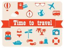 Travel vector icon set. Stock Image