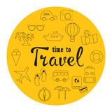 Travel vector icon set. Stock Photography