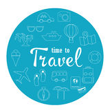 Travel vector icon set. Royalty Free Stock Image
