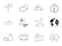Travel vector icon set. Royalty Free Stock Photos