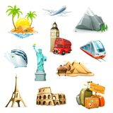 Travel vector icons Stock Image