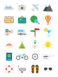 Travel vector icons set. Set of 24 travel vector icons Royalty Free Stock Photo