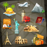 Travel vector icons Royalty Free Stock Photos