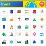 Travel vector icons set, modern solid symbol collection, pictogram pack isolated on white Royalty Free Stock Photo