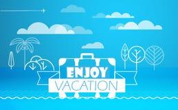 Travel vector illustration. Enjoy vacation Royalty Free Stock Photo