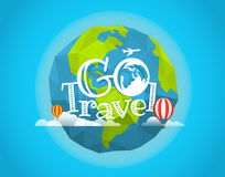 Travel vector illustration. Go travel concept Royalty Free Stock Photo