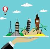 Travel  vector illustration. Modern flat design. Royalty Free Stock Photography