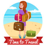 Travel vector illustration Royalty Free Stock Photos