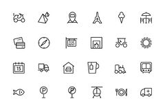 Travel Vector Line Icons 3 Stock Photo