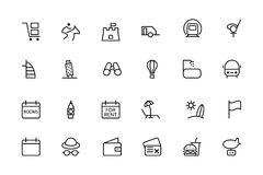 Travel Vector Line Icons 6 Stock Photo