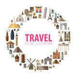 Travel vector logo design template. journey or Royalty Free Stock Images