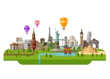 Travel vector logo design template. rest, journey Stock Photos