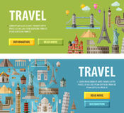 Travel vector logo design template. vacation or Royalty Free Stock Photography