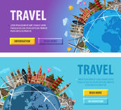 Travel vector logo design template. vacation or Stock Images
