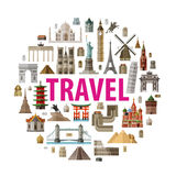 Travel vector logo design template. world or Royalty Free Stock Images