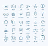 Travel vector logo icons set. Sea, travel or Royalty Free Stock Photos