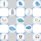 Travel vector logo set Royalty Free Stock Photo