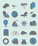 Travel vector set Stock Image