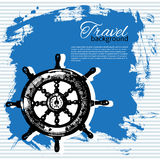 Travel vintage background. Sea nautical design Royalty Free Stock Image
