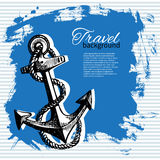 Travel vintage background. Sea nautical design Royalty Free Stock Photos