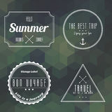 Travel vintage label on geometry background Royalty Free Stock Photography