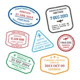Travel visa stamps Royalty Free Stock Photos