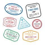 Travel visa stamps Royalty Free Stock Photos