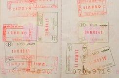 Travel visas Royalty Free Stock Photos