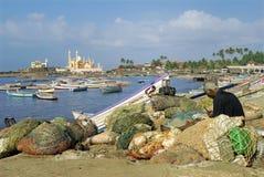 Travel-Vizhinjam Fishing port Stock Photos