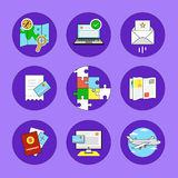 Travel and Volunteer Icon Set Royalty Free Stock Images